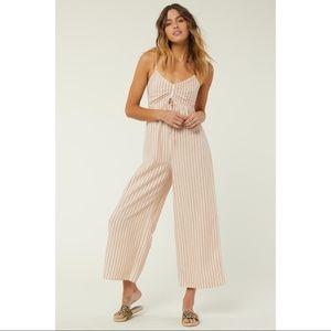 O'Neill Anabella Stripe Jumpsuit NWT size XL